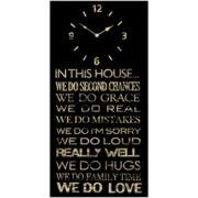 In This House Wall Clock