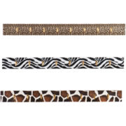 Animal-Print Set of 3 Wall Hook Set