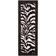 Zebra-Print Wall-Mounted Jewelry Display Case