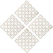 Mirrored Grid Set of 4 Wall Art