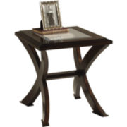 Roxie Rectangular Glass Top End Table