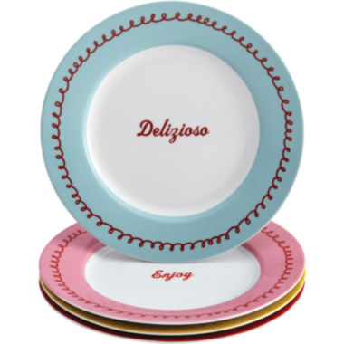 jcpenney.com | Cake Boss™ Set of 4 Porcelain Dessert Plates - Icing & Quotes