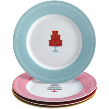 jcpenney.com | Cake Boss™ Set of 4 Porcelain Dessert Plates - Mini Cakes