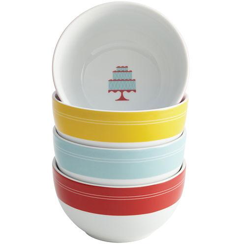 Cake Boss™ Set of 4 Porcelain Ice Cream Bowls - Mini Cakes