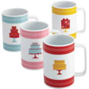Cake Boss™ Set of 4 Porcelain Mugs - Mini Cakes
