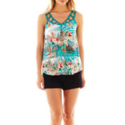 nicole by Nicole Miller® Palm Print Tank Top or Pintucked Shorts