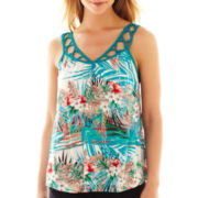 nicole by Nicole Miller® Palm Print Tank Top