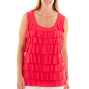Liz Claiborne Tiered Tank Top - Plus