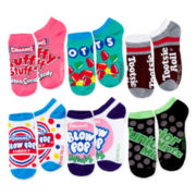 6-pk. Assorted Candy Print No-Show Socks