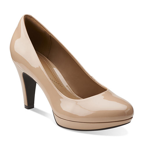 Clarks® Brier Dolly High Heel Pumps - Wide Width