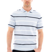 St. John's Bay® Striped Legacy Piqué Polo