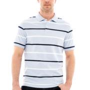 St. John's Bay® Striped Legacy Piqué Polo