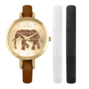 Decree® Womens Interchangable Strap Elephant Watch