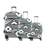 FUL® Floral 3-pc. Hard-Sided Spinner Luggage Set
