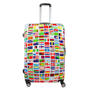 "jcpenney.com | ful Flags Hardside 24"" Spinner Upright Luggage"