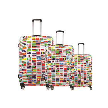 jcpenney.com | FUL® Flags 3-pc. Hard-Sided Spinner Luggage Set