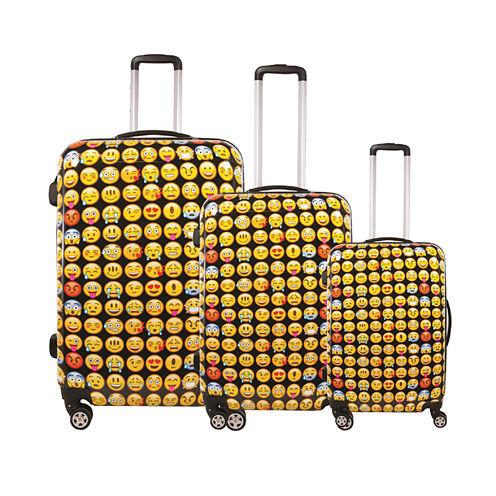 FUL® Emoji 3-pc. Hard-Sided Spinner Luggage Set