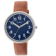Simplify Unisex The 2600 Navy Dial Leather-Band Watch SIM2602