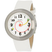 Simplify Unisex The 2700 White Leather-Band Watch SIM2702