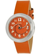 Simplify Unisex The 2700 Orange Leather-Band Watch SIM2704