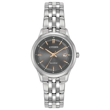 jcpenney.com | Citizen® Eco-Drive Ladies' Stainless Steel Watch With Sapphire Crystal Ew2400-58H
