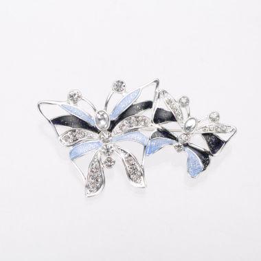 jcpenney.com | Gloria Vanderbilt Blue and Silver-Tone Butterflies Pin
