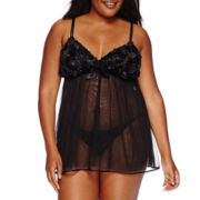 Flora Bellflower Babydoll with Panties - Plus