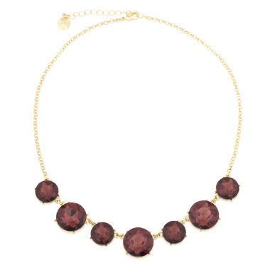 jcpenney.com | Monet® Purple Stone Gold-Tone Collar Necklace