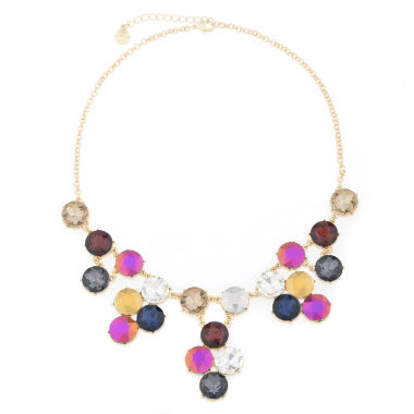 jcpenney.com | Monet® Multicolor Stone Gold-Tone Drama Necklace