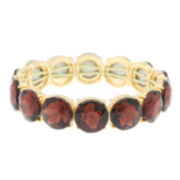 Monet® Purple Stone Gold-Tone Stretch Bracelet