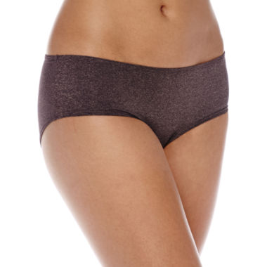 jcpenney.com | Ambrielle® Micro Heather Hipster Panties