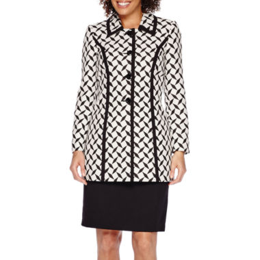 jcpenney.com | Isabella Long-Sleeve Diamond Jacket and Solid Skirt Suit Set