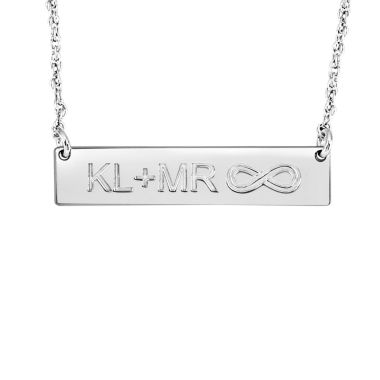jcpenney.com | Personalized Couples Initials and Infinity Bar Necklace