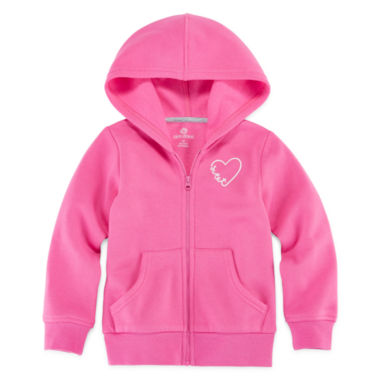 jcpenney.com | Okie Dokie® Long-Sleeve Solid Fleece Hoodie - Toddler Girls 2t-5t