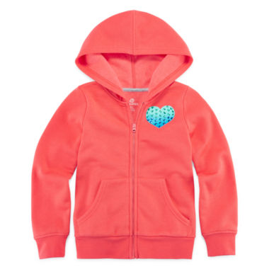 jcpenney.com | Okie Dokie® Solid Fleece Hoodie - Preschool Girls 4-6x