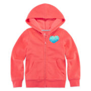 Okie Dokie® Solid Fleece Hoodie - Preschool Girls 4-6x