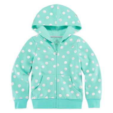 jcpenney.com | Okie Dokie® Long-Sleeve Print Fleece Hoodie - Preschool Girls 4-6x