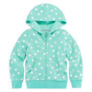 Okie Dokie® Long-Sleeve Print Fleece Hoodie - Preschool Girls 4-6x