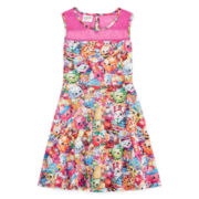 Shopkins Sleeveless Printed Scuba Dress - Girls 7-16