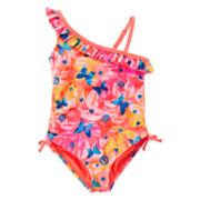 Angel Beach Butterfly Dreams One-Shoulder Swim Tank - Girls