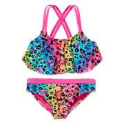 Angel Beach Leo Love Flounce Bikini Tankini - Girls