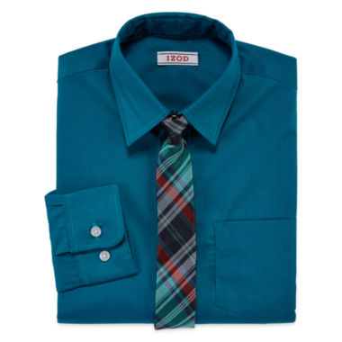 jcpenney.com | IZOD® Long-Sleeve Shirt and Tie Set - Boys 8-20
