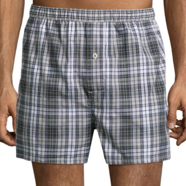 jcpenney.com | Stafford® Woven Cotton Boxers - Big & Tall