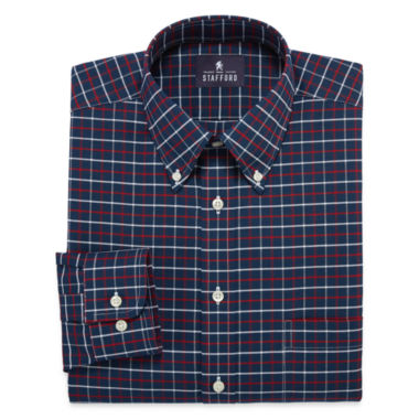 jcpenney.com | Stafford® Travel Long-Sleeve Wrinkle-Free Oxford Dress Shirt