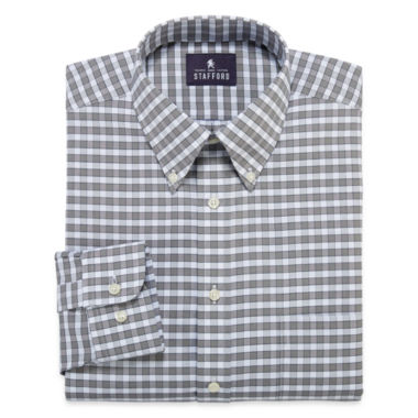 jcpenney.com | Stafford® Travel Long-Sleeve Wrinkle-Free Oxford Dress Shirt - Big & Tall