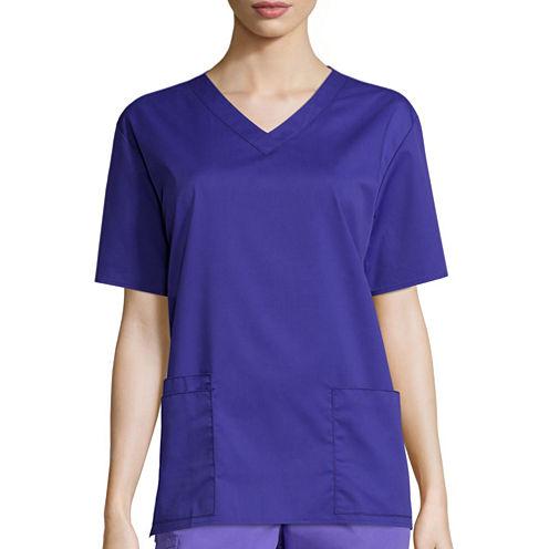 WonderWink® Womens Short-Sleeve V-Neck Top - Plus