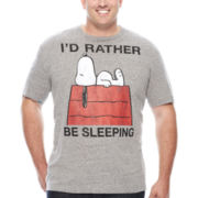 Well Worn Short-Sleeve Rather Be Sleeping Tee - Big & Tall