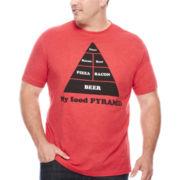 Well Worn Food Pyramid Short-Sleeve Tee - Big & Tall
