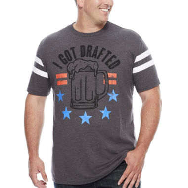 jcpenney.com | Well Worn Got Drafted Short-Sleeve Tee - Big & Tall