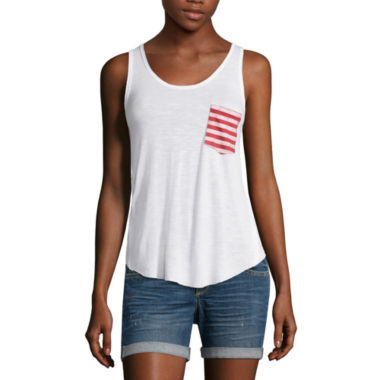 jcpenney.com | Americana Pocket Tank Top - Juniors